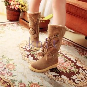 レディース ブーツ シューズ 靴 フラットシューズ 秋冬 保温 防寒 通勤 美脚 おしゃれ かわいい NNX-AL125|knit
