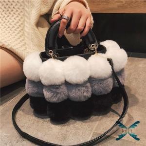 トートバッグ レディース 秋 冬 新作 ハンドバッグ カバン お出掛け ファー もこもこ ふわふわ 可愛い 大容量 肩掛け A4バッグ 通勤 knit