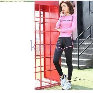トレーニングウェア ヨガウェア スポーツウェア レディース フィットネス 二点セット 動きやすい ダンス ランニング タイト 超軽量 レギンスYUD-AL03|knit