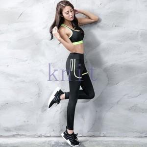 トレーニングウェア ヨガウェア スポーツウェア レディース フィットネス 三点セット 長袖 動きやすい 吸汗速乾 超軽量YUD-AL11|knit