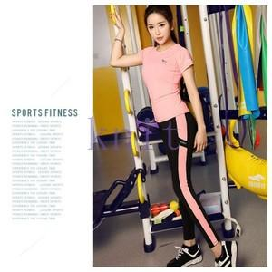 トレーニングウェア ヨガウェア スポーツウェア レディース フィットネス 二点セット 動きやすい ダンス ランニング 吸汗速乾 超軽量 レギンスYUD-AL15|knit