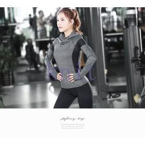 ヨガウェア Tシャツ レディース トップス スポーツ ヨガパンツ フィットネス ダンス 動きやすい トレーニング 吸汗速乾 超軽量 タイト 着痩せYUD-AL200|knit