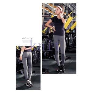 ヨガパンツ レディース レギンス ランニングパンツ レギンスパンツ ヨガウェア フィットネス 動きやすい ダンス 吸汗速乾 超軽量 ストレッチYUD-AL209|knit
