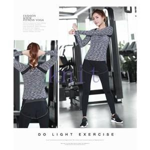 ヨガウェア Tシャツ レディース トップス スポーツ フィットネス ダンス 動きやすい トレーニング 吸汗速乾 超軽量 タイト 着痩せYUD-AL214|knit