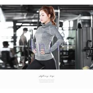 ヨガウェア Tシャツ レディース トップス スポーツ フィットネス ダンス 動きやすい トレーニング 吸汗速乾 超軽量 タイト 着痩せYUD-AL215|knit