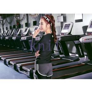 ヨガウェア Tシャツ レディース トップス スポーツ フィットネス ダンス 動きやすい トレーニング 吸汗速乾 超軽量 タイト 着痩せYUD-AL216|knit