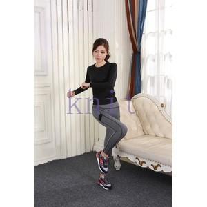 トレーニングウェア ヨガウェア スポーツウェア レディース フィットネス 二点セット 動きやすい ダンス ランニング 吸汗速乾 超軽量 レギンスYUD-AL28|knit