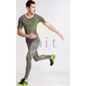 スポーツタイツ ランニングレギンス タイツト スポーツウェア メンズ フィットネス 動きやすい ランニング トレーニング レギンスYUD-AL534|knit