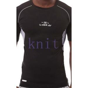 コンプレッション ストレッチウェア スポーツウェア メンズ フィットネス 動きやすい ランニング トレーニング トップスYUD-AL554|knit