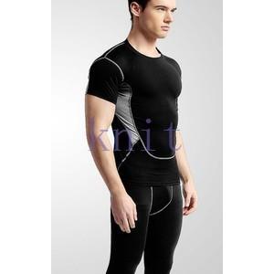 トレーニングウェア スポーツウェア メンズ フィットネス 二点セット 動きやすい ランニング トレーニング 吸汗速乾 超軽量 レギンスYUD-AL568|knit