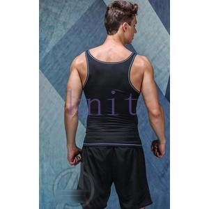 コンプレッション ストレッチウェア スポーツウェア メンズ 袖なしフィットネス 動きやすい ランニング トレーニング トップスYUD-AL624|knit