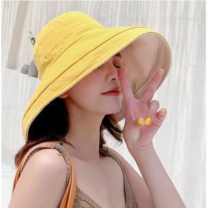 帽子 レディース 夏 uv 折りたたみ 帽子 リボン付き おしゃれ つば広 帽子 大きいサイズ つば広 ハット 大きめ uvカット ひも 自転車 風で飛ばない 紐付き knit