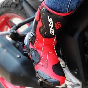 バイクブーツメンズライディングスニーカーレーシングシューズオートバイシューズバイク靴オートバイ靴防水バイク用ツーリングライダーバイカー|knit