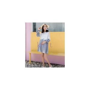 マタニティ ワンピース 春秋 新作 大きいサイズ 産前 産後 妊婦服 ゆったり 切り替え レースGYFC-AL74|knit