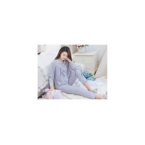 パジャマ マタニティ 春秋 新作 長袖 寝巻き ルームウエア 部屋着 授乳口付き 2点セット 産前産後 大きいサイズ 柔らかい 上質GSYC-AL28|knit