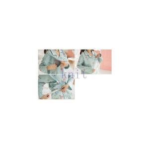 パジャマ マタニティ 春秋 新作 長袖 寝巻き ルームウエア 部屋着 授乳口付き 2点セット 産前産後 大きいサイズ 柔らかい 上質GSYC-AL94|knit
