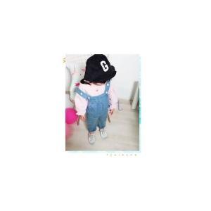 サロペットパンツ女の子キッズジュニア子供服春秋春新作おしゃれファッションGETC-AL366|knit