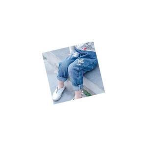 デニムパンツキッズジュニア女の子子供服春秋春新作長ズボンボトムス刺繍おしゃれGETC-AL335|knit