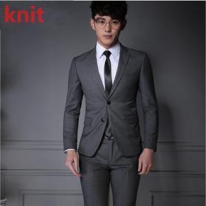大きいサイズ スーツ メンズ 2ツボタン ビジネス スーツ メンズ ビジネススーツ 2ツボタン シングル グレー スリム ジャケット スラックス スリムスーツ|knit