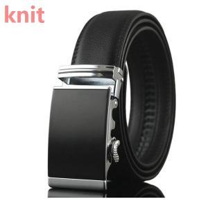 ベルト メンズ カジュアル 本革 スライド ビジネス 紳士ベルト ロング 大きいサイズ オートロック 高級 バックルベルト レザー 定番 belt ベーシック|knit
