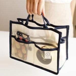 バッグインバッグMメッシュ素材インナーバッグバッグインバッグ小さめ収納バッグ