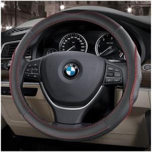 本革ハンドルカバーステアリングカバーカーハンドルカバー37.5cm38cmSMサイズ普通車汎用自動車内装ドライビングプレゼント|knit