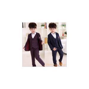 スーツキッズスーツ子供服紳士服背広タキシードパーティースーツ学園祭卒業入学結婚式発表会上下セット3セット|knit