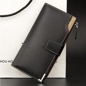 メンズ財布本革財布メンズ長財布ウォレット薄いバック綺麗軽い携帯入れ財布さいふサイフ多機能nnqb55 knit