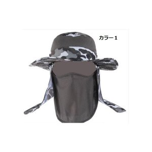 帽子メンズ折りたためるハット釣りアウトドアつば広飛ばない自転車運転紫外線UVカット日焼け対策夏首元ガード仕様|knit