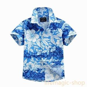 ベビーキッズアロハシャツAサマー子供服トップス|knit