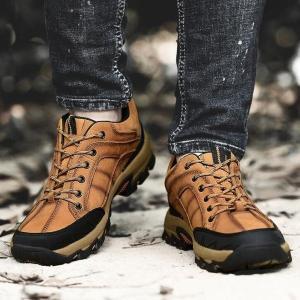 靴メンズスニーカートレッキングシューズレザーアウトドア登山トレッキングシューズレザーウォーキングシューズ登山靴シューズthg2 knit