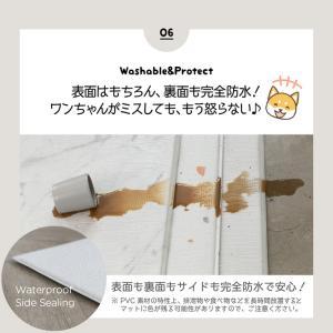 ペットマット 犬 猫 おしゃれ 大きめ ズレない 大判 フローリング 滑り防止 フロアマット 防水 ecf02 knktrading 15