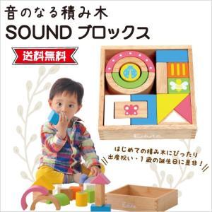 積み木 ブロック 木のおもちゃ 音が出る 知育玩具 ベビー 赤ちゃん 出産祝い 0歳 1歳 男 女 ...