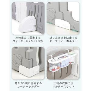 ベビーサークル ベビーゲート おしゃれ プレイヤード プラスチック セーフティーゲート 赤ちゃん 柵 安全 ifam if01|knktrading|16
