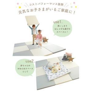 20%offクーポン対象プレイマット 赤ちゃん  リビング マットレス おしゃれ フロアマット フローリング 防音 ジョイントマット ベビー 防水 運動 zemzem zem52|knktrading|05