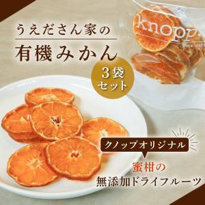 うえださん家の有機みかん 20g 3袋セット 愛媛産 ドライフルーツ 無農薬 南柑20号 knopp