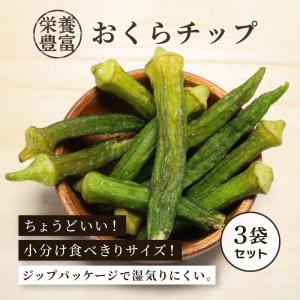 野菜チップス おくらチップ 80g×3袋セット ドライフルーツ 乾燥野菜 オクラチップス 栄養満点|knopp