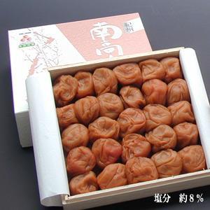 桐箱入り梅干−紀州南高梅  みなべ産  蜂蜜 (はちみつ)梅干し 400g (塩分約8%)|ko-da-wa-ri