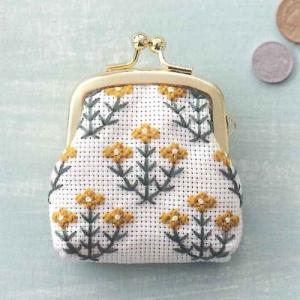 コスモ ルシアン 刺繍キット 小さながまぐち キンポウゲ ko-da