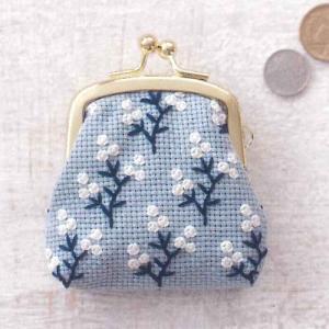 コスモ ルシアン 刺繍キット 小さながまぐち メイフラワー ko-da
