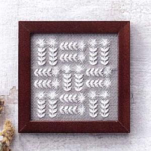 コスモ ルシアン 刺繍キット 小さなフレーム ナインパッチ ko-da