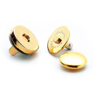 ハマナカ カシメ式マグネット付丸型ホック(14mm) 金|ko-da