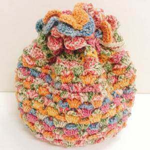 内藤商事 ナイフメーラで編む 松ぼっくりのきんちゃくポーチキット|ko-da