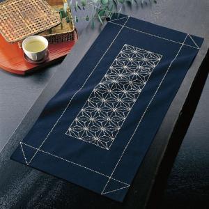 オリムパス 刺し子キット テーブルセンター 麻の葉 ko-da