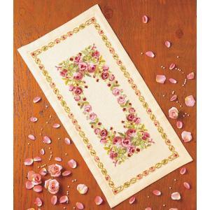 オリムパス 刺繍キット 尾上雅野 テーブルセンター フラワーガーデン 【刺繍キット】|ko-da