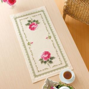 オリムパス 刺繍キット オノエ・メグミ テーブルセンター スカーレットローズ 【刺繍キット】|ko-da