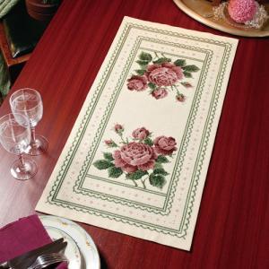 オリムパス 刺繍キット オノエ・メグミ テーブルセンター アンティークローズ 【刺繍キット】|ko-da