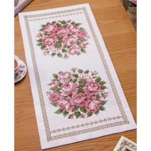 オリムパス 刺繍キット オノエ・メグミ 美しい花たち テーブルセンター スウィートローズ 【刺繍キット】|ko-da