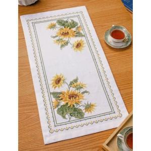 オリムパス 刺繍キット オノエ・メグミ 美しい花たち テーブルセンター サンフラワー 【刺繍キット】|ko-da