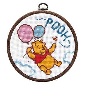 オリムパス ディズニー刺繍キット 空飛ぶプーさん (フープ付)  【刺繍キット】|ko-da